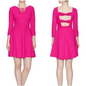 Pink Kate Spade bow back dress